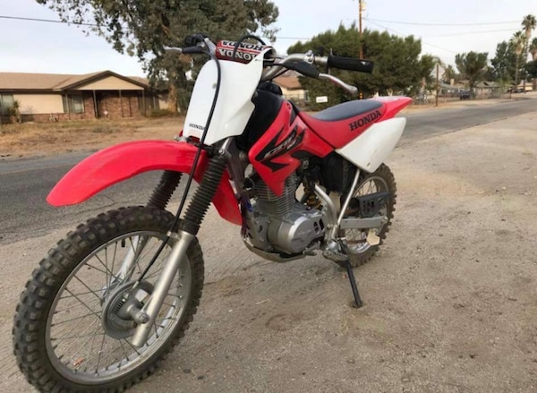 red Honda CRF dirt bike