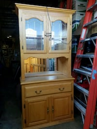 brown wooden cabinet with hutch Forest Hill, 21050