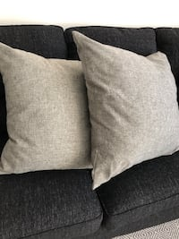 2 Euro Pillows with Gray Pillow Covers New York, 11358