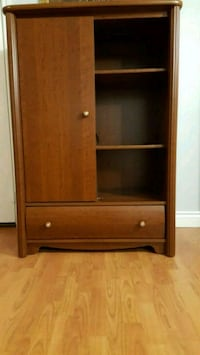 Brown wooden cabinet with shelf Whitby, L1R 1Y2