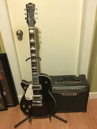 black and brown electric guitar Vancouver, V5M 1H1