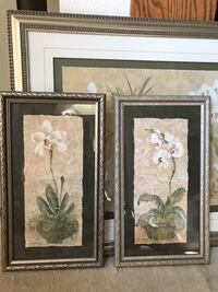 """Two framed orchid pictures 21""""x24"""" (orig. $90 Alhambra, 91803"""