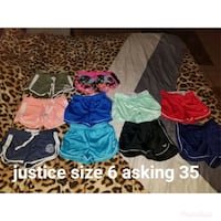 8 pairs of justice shorts  Fort Myers, 33905