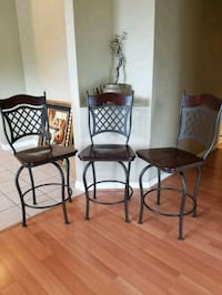 two black metal framed brown padded chairs Orlando, 32810