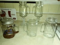 Mason jar glasses. Excellent condition Bakersfield, 93308