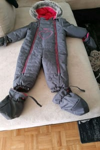 18 month toddler girls snowsuit  Grey and Pink from OshKosh Toronto, M1E 4S9