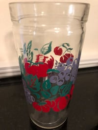 4 VINTAGE HAND PAINTED JELLY JAR GLASSES  New York, 10461