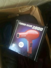 rød Turbo Hair 2000 hårføner boks