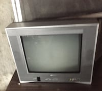 gray CRT TV with remote Morrison, 80465