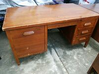 Vintage Wooden Brown Desk $75 OBO Pharr, 78577