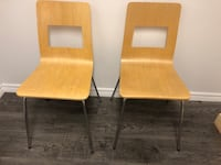 Solid wood modern sturdy chair hardly used like new. Pick up in Mississauga Mississauga, L5C 1A7