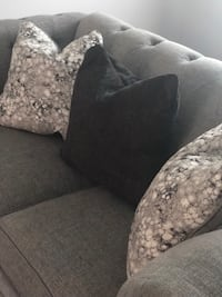 Gray studded loveseat w/ accent pillows Clinton, 20735