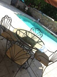 Pewter table & 4 coverable chairs Knoxville, 37922