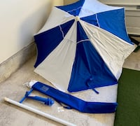 Beach Outdoor UV Protection Umbrella with Anchor in Carry Storage bag
