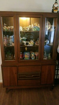 brown wooden framed glass display cabinet Laurel, 20723