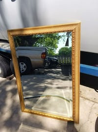 brown wooden framed wall mirror Oklahoma City, 73114