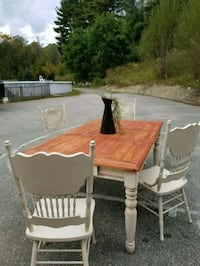 brown wooden table and chairs Leicester, 01524