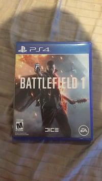 Battlefield 1 ps4 game case Manassas, 20109