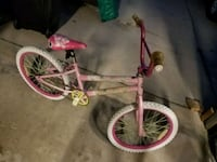 toddler's pink and white bicycle Fort Carson, 80913