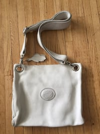 Roots  cross body white leather