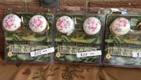 3 gorgeous genuine porcelain non locking door knobs