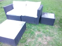 Outside loveseat coffee table and end table