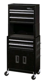 Rolling Tool Chest 5-Drawer Cabinet Combo With Riser
