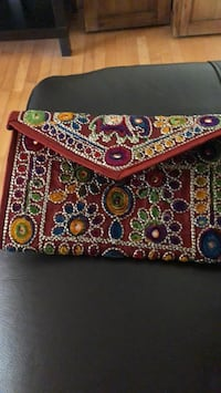 Beautiful Embroidered Wallet/ clutch Edison