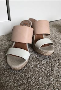 pair of brown leather open-toe sandals Canby, 97013