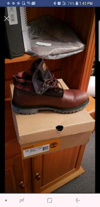 brown leather work boot with box Schenectady, 12308