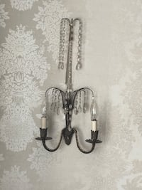 Vintage Antique Crystal Wall Sconces (Pair) Olney, 20832