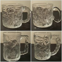 McDonald's Batman Forver 1995 glass/mug set Newark, 19702