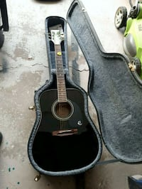 epiphone acoustic with hard shell case Thorold, L0S 1A0