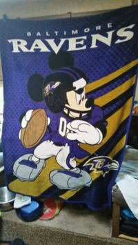Mickey Mouse Baltimore Raven throw blanket  Norman