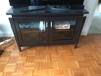 black wooden TV stand with flat screen television Falls Church, 22046