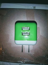 USB 2 Port Wall Charger / w Charging Cord