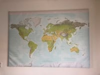 IKEA world map with frame