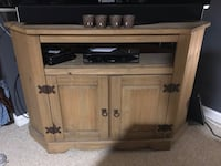 brown wooden TV stand with cabinet Baldwinsville, 13027