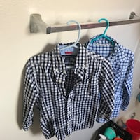 black and white houndstooth print button-up shirt Cypress, 90630