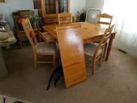 rectangular brown wooden table with four chairs dining set Golden Valley, 86413