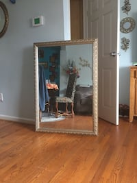 Rectangular mirror with brown wooden frame Silver Spring, 20904