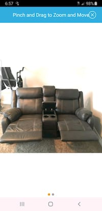 black leather home theater sofa Riverton, 84065