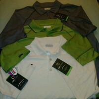 3 NEW WITH TAGS - mens LARGE on tour polo golf shi Edmonton, T6X 1G7