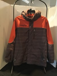 XL 14/16 winter jacket orange and brown plaid Free Country FCXTREME Reisterstown, 21136