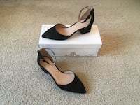 Black Pointed Toe Heels(Size 7.5 Wide) Silver Spring