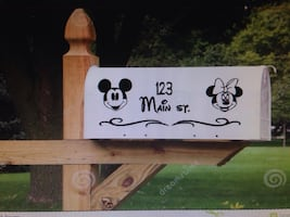 Mail box decals