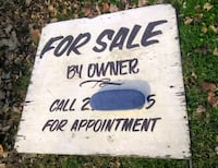 Large 4 Ft Hand-Painted Wood For Sale by Owner Sign - Double-sided!    Indianapolis, 46201