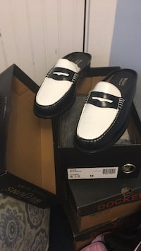 Weejuns womens loafers slip on black and white 381 mi