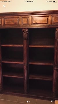 Solid rosewood Bookshelf. Unique Antique. Perfect condition.  Vaughan