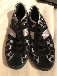 Coach ladies black and silver sneakers size 6.5 US
